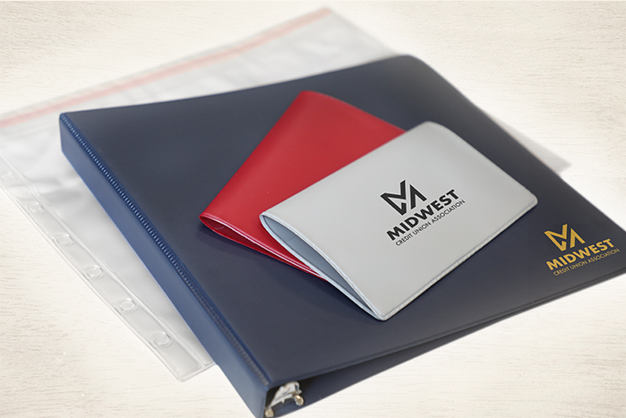Vinyl Binder and checkbooks
